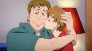 Michael gives Max a kiss