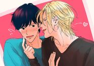 Ash and Eiji by @RainyPlants