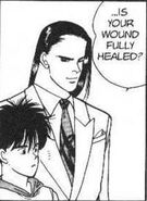Blanca asks Eiji if his wound is fully healed