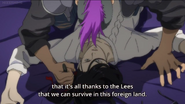Shorter tells Yut-Lung that it's all thanks to the Lees that we can survive in this foreign land