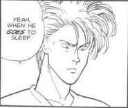 Alex tells Eiji when Ash goes to sleep
