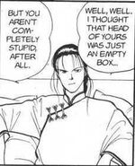 Yut-Lung tells Eiji I thought that head of yours was just an empty box