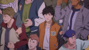 Eiji watches the result of the fight