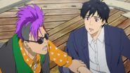 Shorter takes Eiji's arm