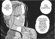 Yut-Lung tells Ash that he can choose yes or no to give up the Banana Fish info or protect Eiji