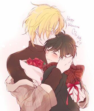 Happy Valentine Ash and Eiji by nntnmyoi