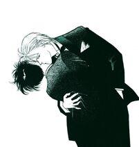 Kiss-in-tuxedo