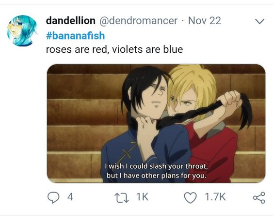 Banana Fish Roses are Red