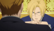 Ash tells Max the secretary who did it was controlled by Banana Fish