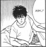 Eiji wakes up and asks Ash