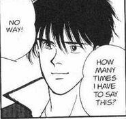 Eiji replies affectionatly
