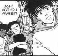 Eiji asks Ash if he's awake