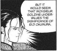 Yut-Lung tells Blanca that Golzine values the significance of Eiji Okumura