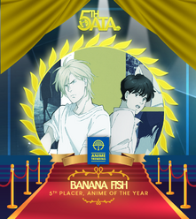Banana Fish 5th place Anime Of The Year AnimeTrending