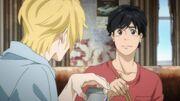 Eiji's face