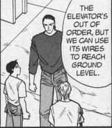 Blanca tells Sing and Ash about using the elevator wires to reach ground level