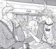 Ash and Max at a cafe