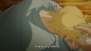 Ash tells Eiji stay by my side