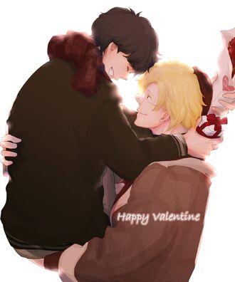 Happy Valentine Ash and Eiji by kiringo69