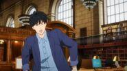 Eiji sticks his tongue out at Ash