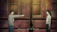 Yut-Lung tells Eiji to shoot him for Ash