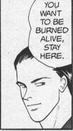 Blanca tells Ash if he wants to be burned staying on the roof