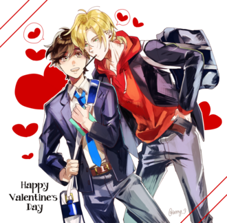 Happy Valentine's Day Banana Fish Ash and Eiji by wrng 3