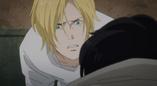 Ash looks at Eiji