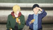 Eiji tells Ash that the mustard is strong