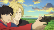 Ash teaches Eiji