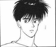 Eiji glances over at Sing