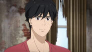 Eiji smiles back at Ash