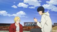 Eiji tells Ash but it's a good luck charm for love. That airhead