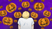 Ash gets surrounded by pumpkins