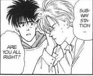 Eiji asks Ash if he's alright