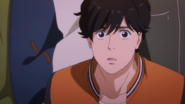 Eiji becomes shocked to hear Ash tell him I don't want you to see me like this