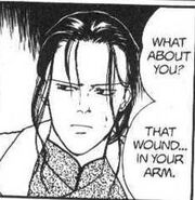 Yut-Lung asks Blanca about the wound in his arm