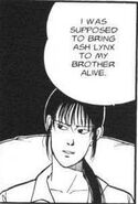 Yut-Lung tells Shorter that he was supposed to bring Ash to his brother alive