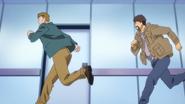 Shunichi and Max running