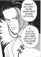 Yut-Lung tells two hired thugs to target Eiji Okumura