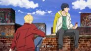 Ash ask to Eiji about the thing he holds
