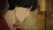Ash tells Eiji it doesn't have to be forever
