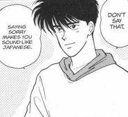 Eiji shows sympathy towards Ash
