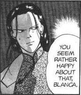 Yut-Lung tells Blanca that he seems rather happy about Ash