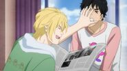 Ash tells Eiji don't worry, Big Bro. Keep your nose out of it