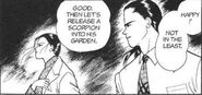 Yut-Lung tells Blanca that they should release a scorpion into Ash's garden