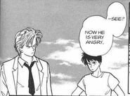 Eiji tells Ash that Sing is very angry