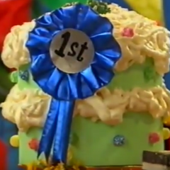 Cake with 1st ribbon