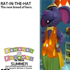 Rat-In-The-Hat's (voiced by Ernie Sabella) character poster, released on January 10, 2001.