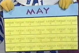 Calendar with Tuesday
